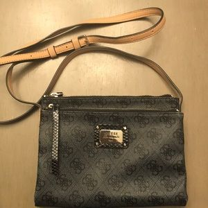 Guess cross body leather purse